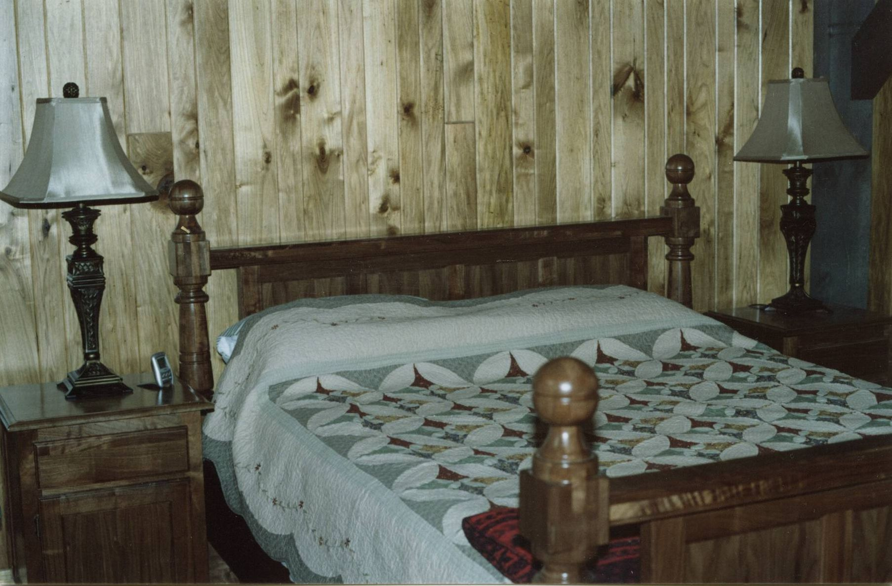 custom made walnut four poster bed frame - Four Poster Bed Frame