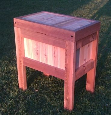 Custom Made Rustic Cooler Stand