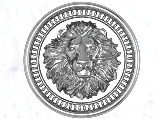 Custom Made Lion Medallion