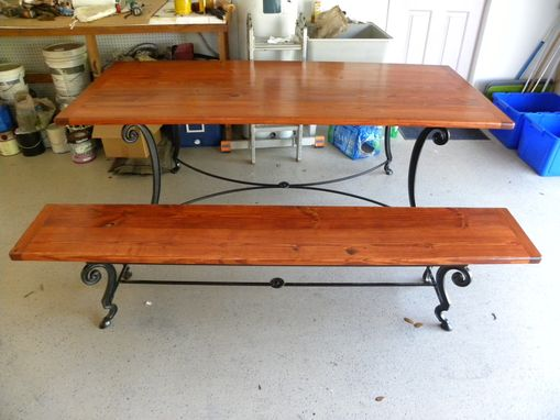 Custom Made Farm Table And Bench