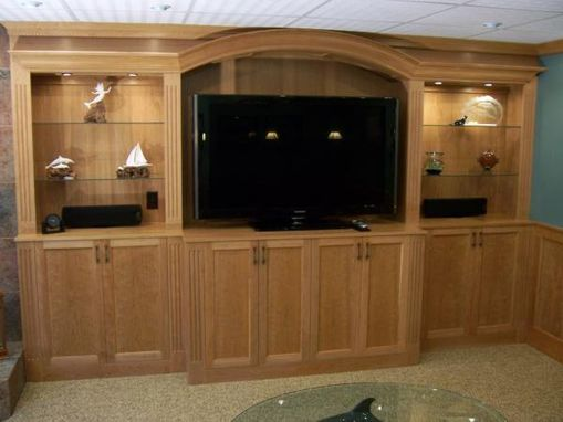 Custom Made Entertainment Center.