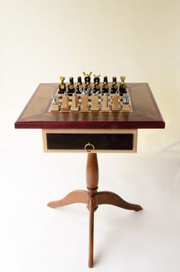"Custom Made ""Techie"" Chess Set & Table"