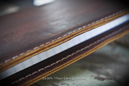Custom Made Custom Bison Leather Bible Cover For Book 10 X10 X 2 Inches Or Smaller