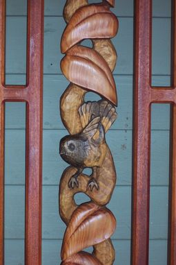 Custom Made Hand Rail And Wall Sculptures With Birds