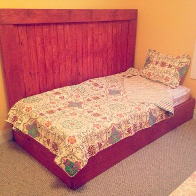 Custom Made Hand Made Beach Cottage Style Platform Bed/Headboard