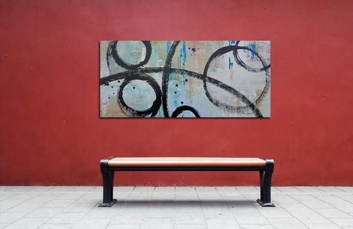 "Custom Made ""Perfect Timing"" - Large Original Art. Contemporary Abstract Painting With Circles"