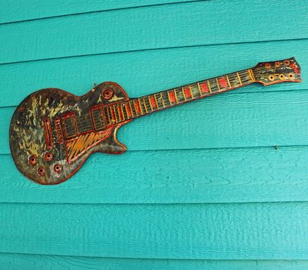 Custom Made Solid Copper Stratocaster Electric Guitar Sculpture