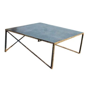 Custom Made Industrial Art Metal Coffee Table By Raymond Guest