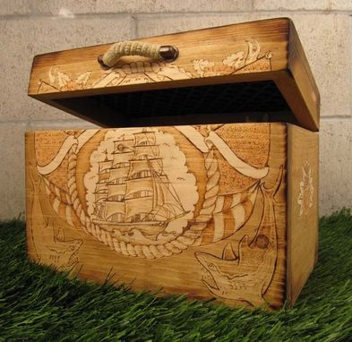 Custom Made Sailors Box Or Trunk