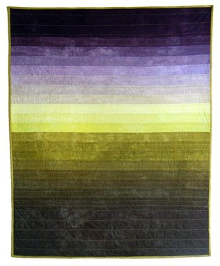 Custom Made Hand-Dyed Landscape Quilt: Iowa In July