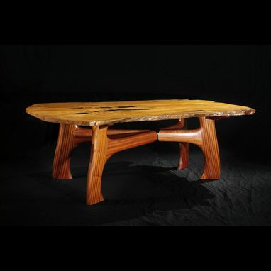 Custom Made Free Edged Italian Olive Dining Table (Lodge Table)