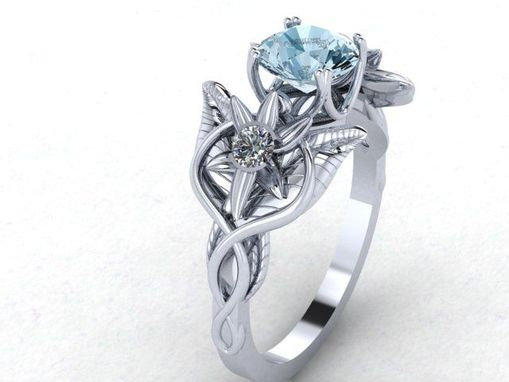 Custom Made Oh Lord, This Custom Cut Sapphire Moon In Elvish Flowers & Vines Infinity Ring Is Beautiful!