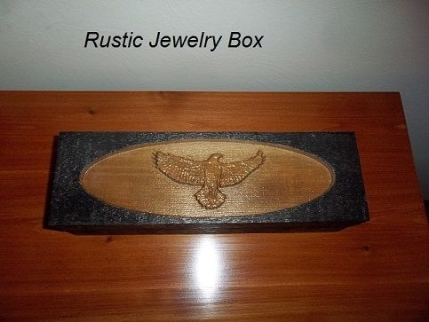 Custom Made Men's Rustic Cufflink And Watch Box