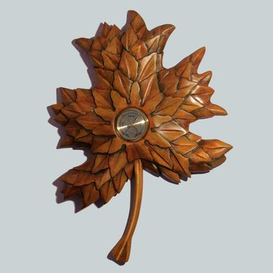 Custom Made Maple Leaf Wall Clock
