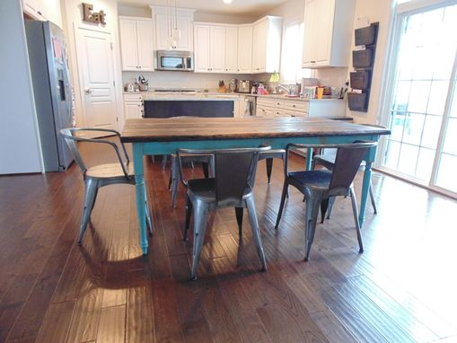 Hand Made Reclaimed Wood Farmhouse Table With Beautiful