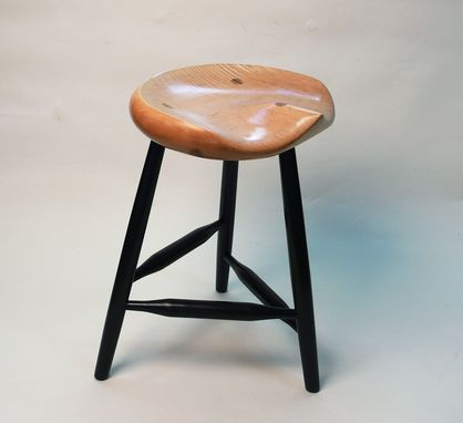 Custom Made Garny - Guitar Stool - Tiger Maple Tripod Stool