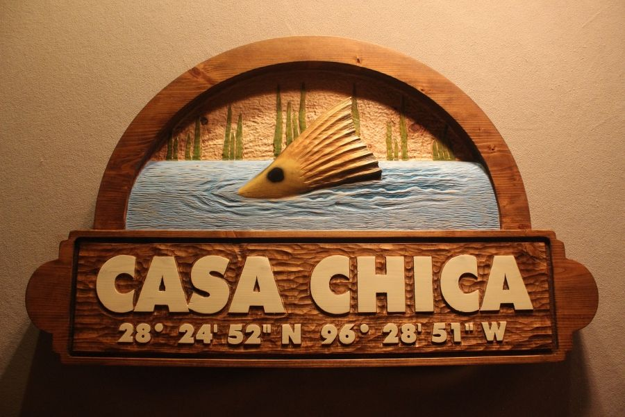 Custom Made Wood Signs Carved Fish Home