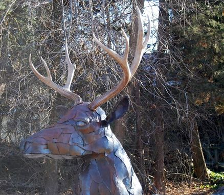 Custom Made Life-Size Metal Deer Buck