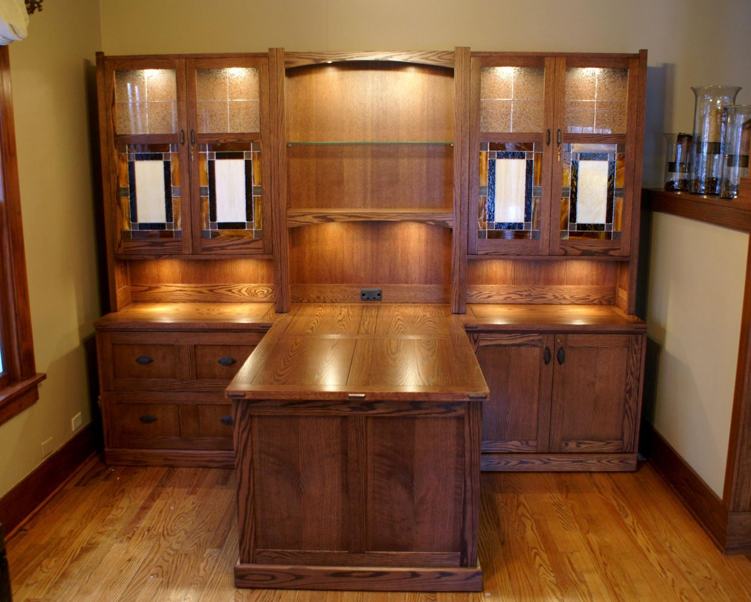 Hand Made Craftsman Style Desk System By Roltgen S