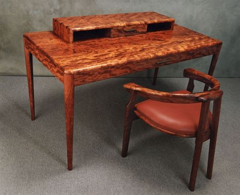 Custom Made Reptilian Rosewood Desk And Chair