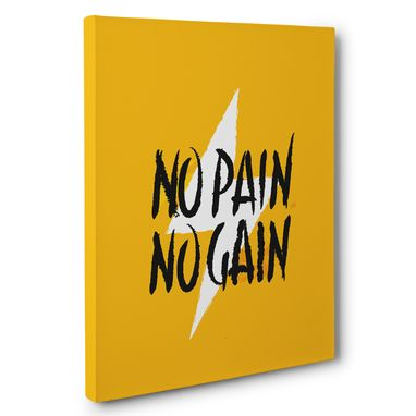 Custom Made No Pain No Gain Motivational Canvas Wall Art