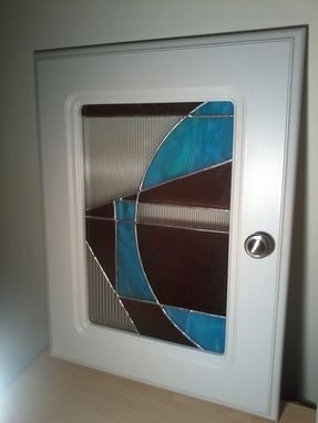 Custom Made Repurposed Stained Glass Cabinet Doors