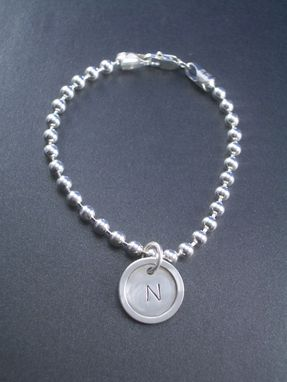 Custom Made Bracelet With Charm In Sterling Silver