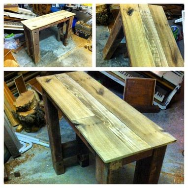 Custom Made Reclaimed Wood Entry Table