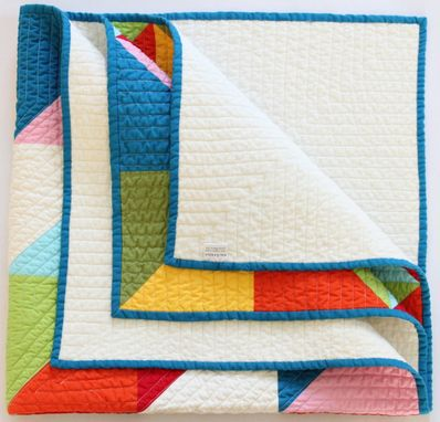 Custom Made Handcrafted Organic Cotton Baby Quilt