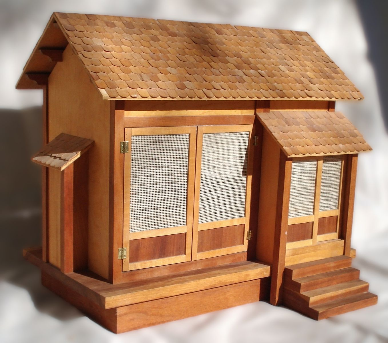 Handmade Japanese Doll House By Russell Mcrae Woodworking