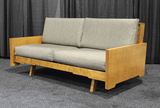Custom Made Cherry Slab Sided Sofa