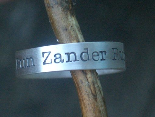 Custom Made Personalized Message Ring