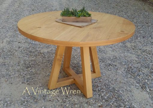 Custom Made Pedestal Table/ Modern Rustic Accent Table