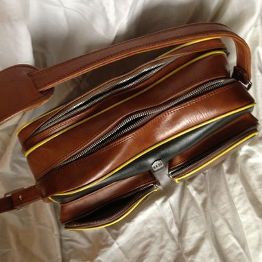 Custom Made Hand Painted Vintage Travel Bag