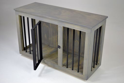 Custom Made Custom Contemporary Dog Crate Table