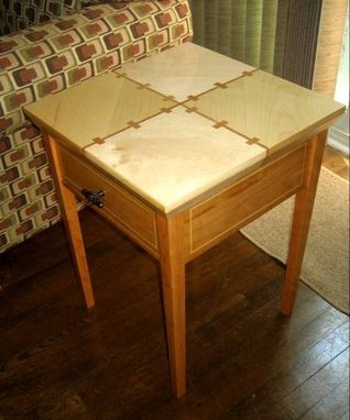 Custom Made Maple & Cherry Accent Table