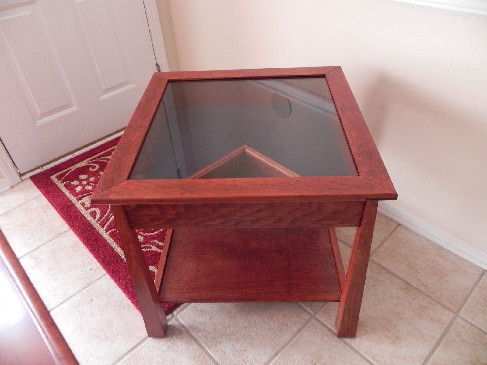 Hand Crafted Military Shadow Table By Delta Black Custom