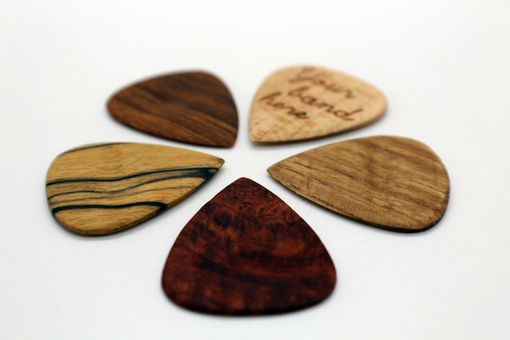 Custom Made Handmade Wood Guitar Picks
