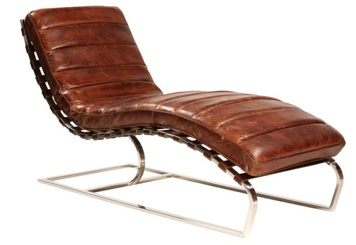 Custom Made West La Modern Leather Curved Chaise