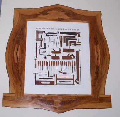 Custom Made Picture Frame From A Log
