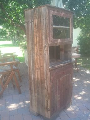 Custom Made Wooden Hutch With Cabinet And Drawer