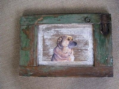 Custom Made German Shepard On Old Wood