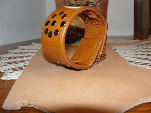 Custom Made 'Leather Bracelet In Saddle Tan Color'