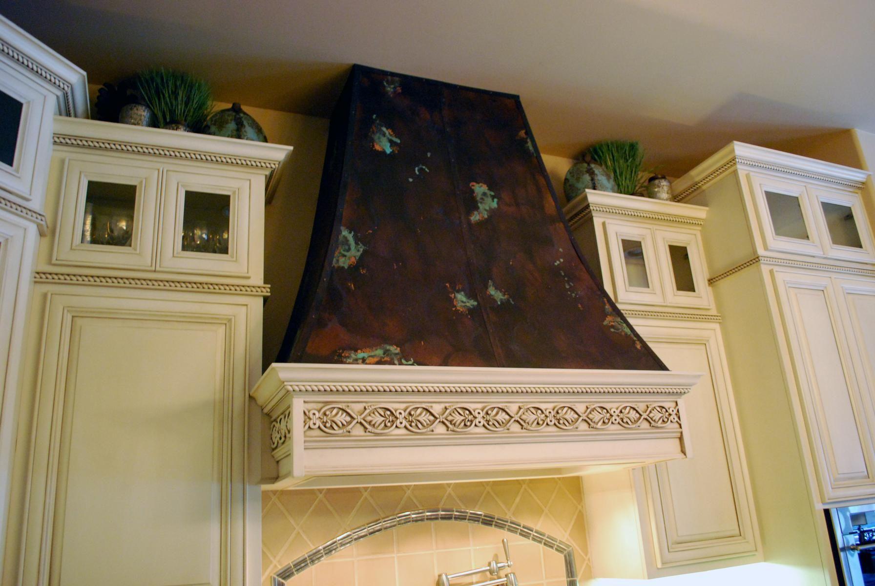 Custom Copper Range Hood And Frieze By Ck Valenti Designs