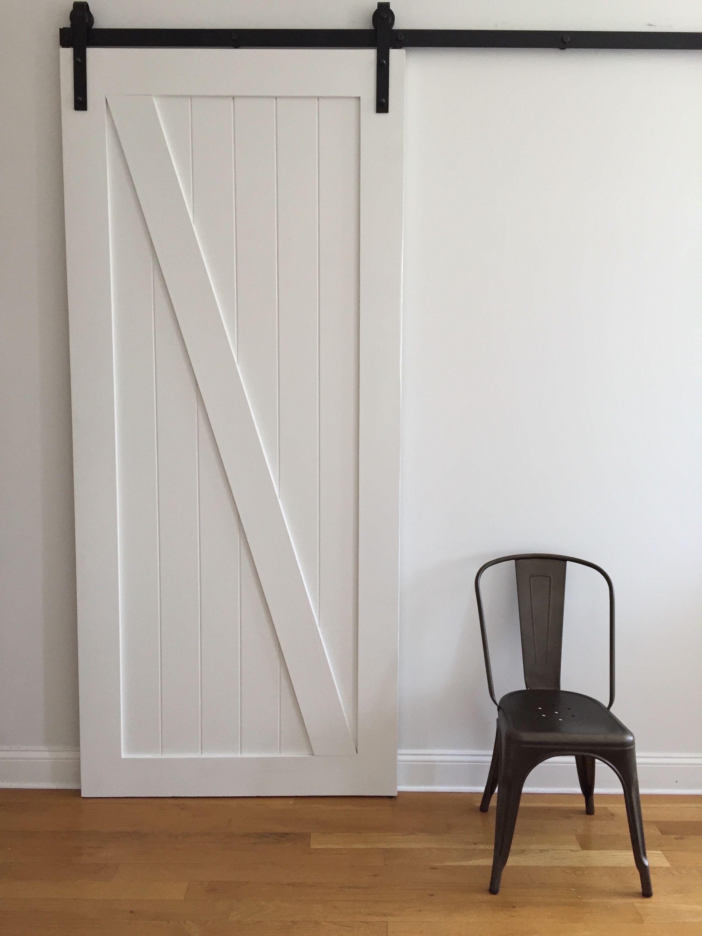 Custom Made Distressed White Barn Door