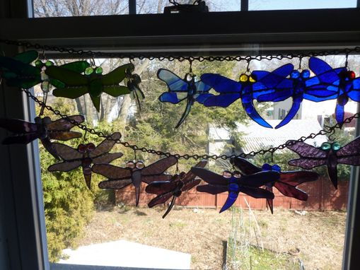 Custom Made Stained Glass Dragonfly