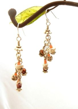 Custom Made Keshi Pearl Sea Anemone Necklace And Pearl Earrings