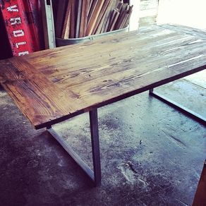 industrial chic furniture ideas. Industrial City Farm Table By Ryan Surratt Chic Furniture Ideas