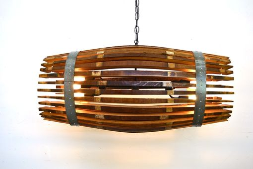 Custom Made Craftsman Collection- Catch - Wine Barrel Chandelier