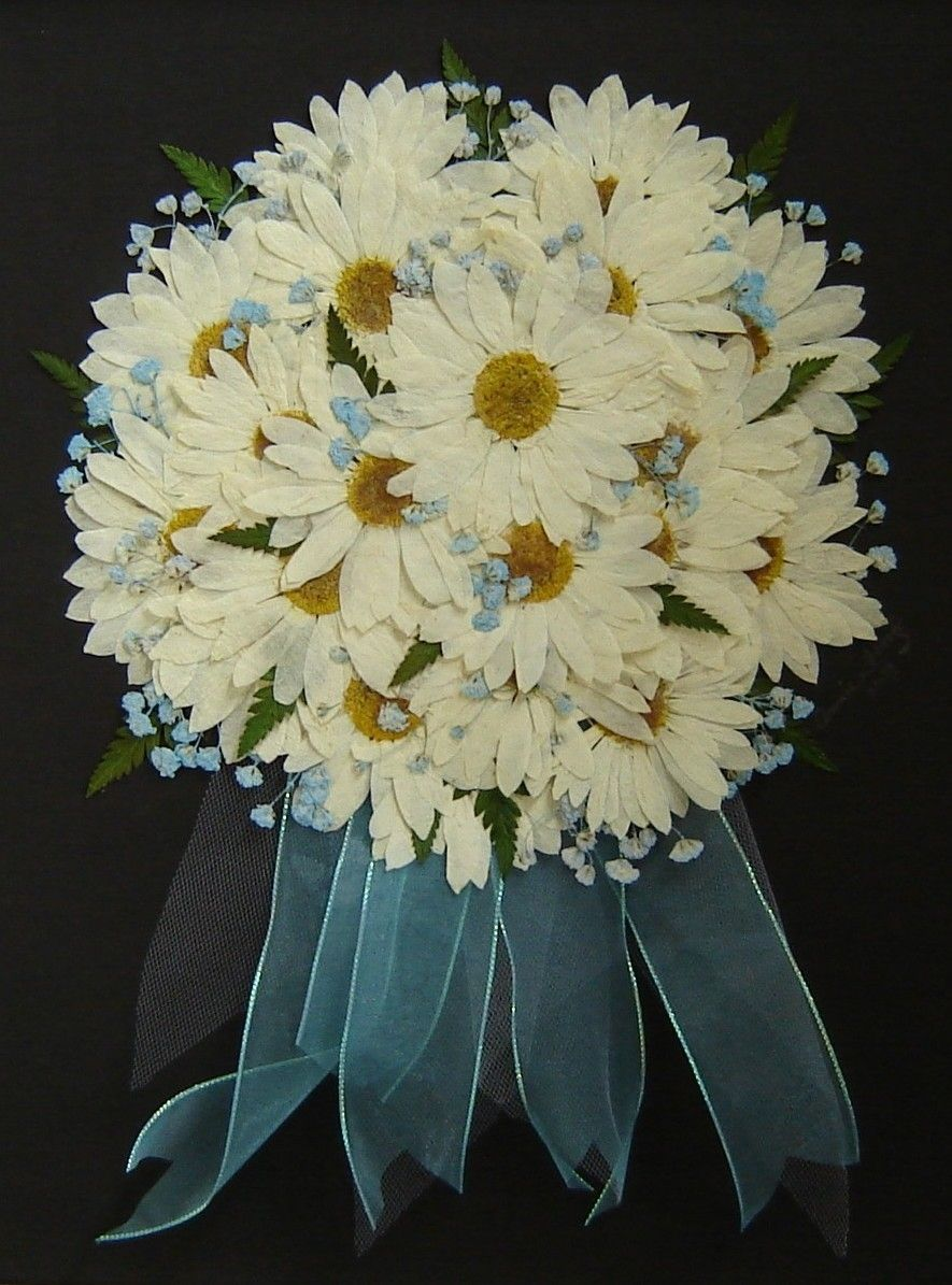 Custom Made Pressed Flower Art - Bridal Bouquet ~ Flowers Only by ...
